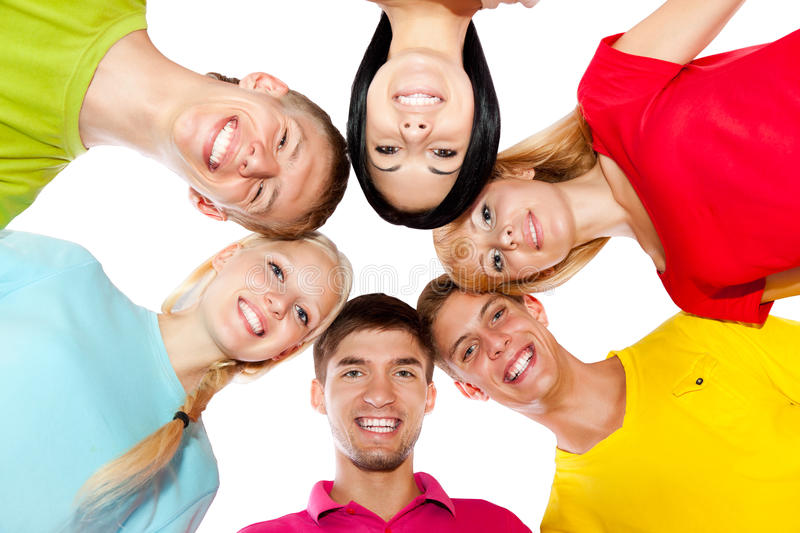 Download Group of young people stock image. Image of happiness - 26484315