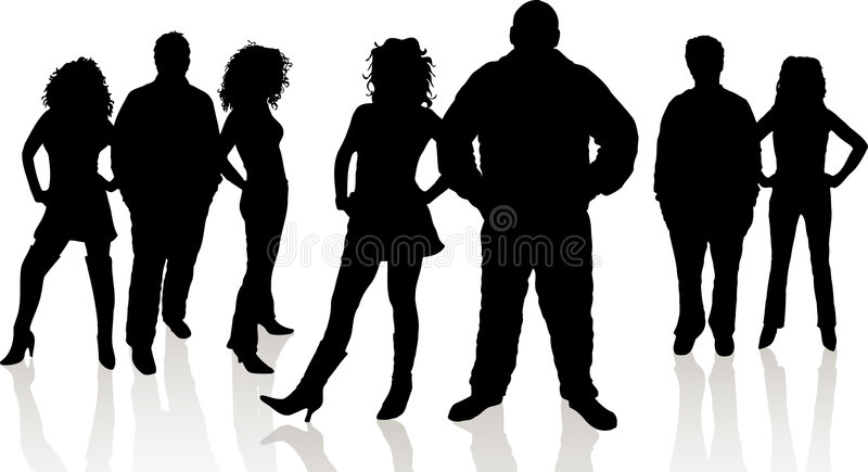 Group of young people vector illustration