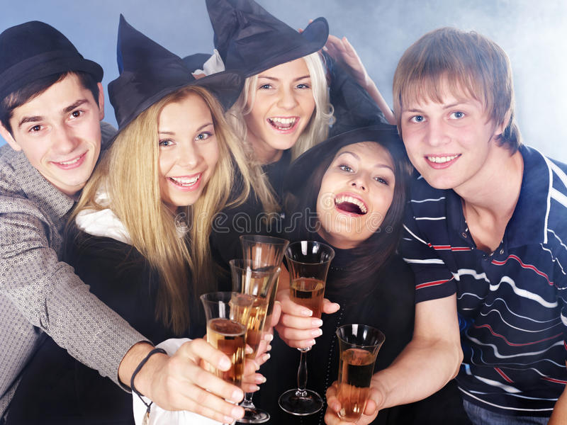 Download Group Young People Drinking Champagne. Stock Photo - Image: 21130006