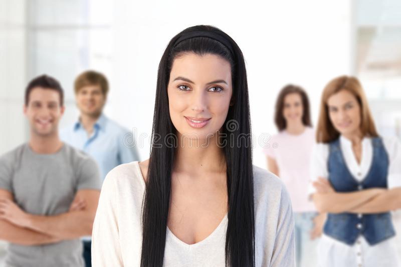 Download Group Of Young People Indoors Stock Photo - Image: 25700918