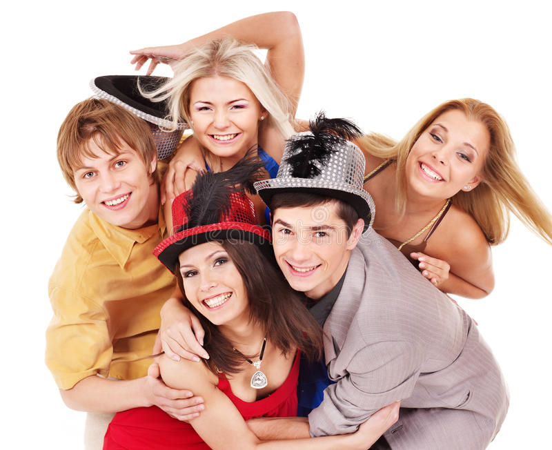 Download Group Young People On Party. Stock Photo - Image: 20752762