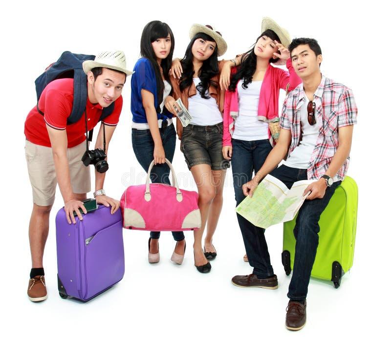 Group Of Young Tourist Stock Photos