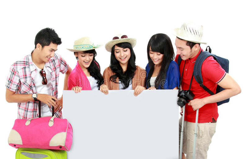 Download Group of young tourist stock photo. Image of colorful - 29363078