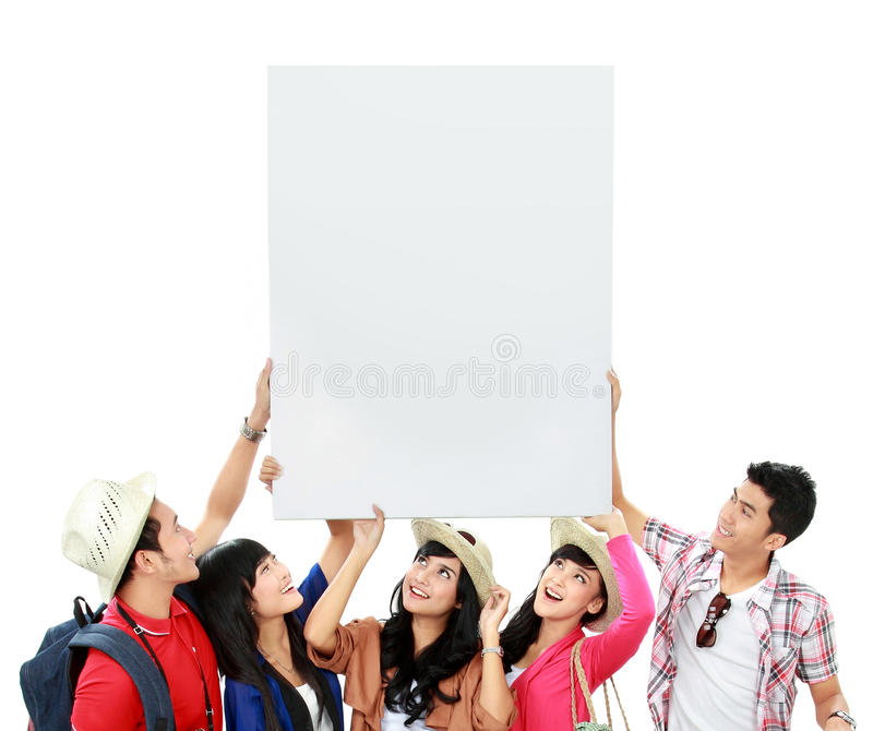 Group Of Young Tourist Royalty Free Stock Photography