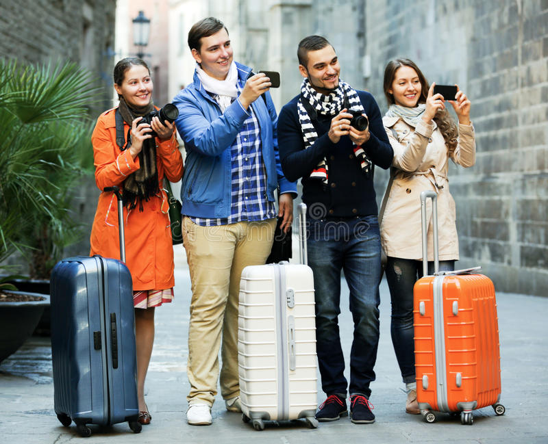 40 Group Young Tourists Cameras Photos - Free & Royalty-Free Stock ...