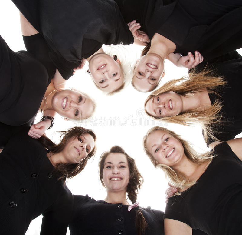 Group of Young Women royalty free stock photography