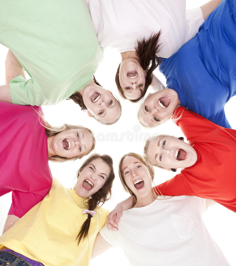 Group of Young Women stock photos