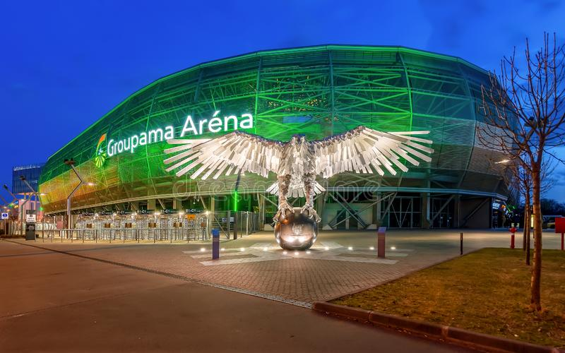 Groupama arena. Fradi Budapest, Hungary. royalty free stock images