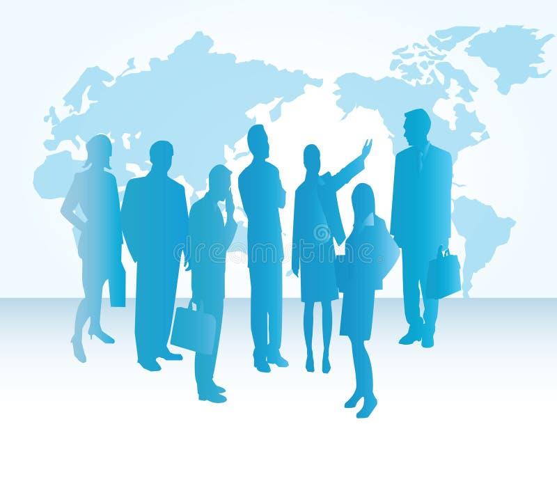 Groupd dos executivos ilustração do vetor