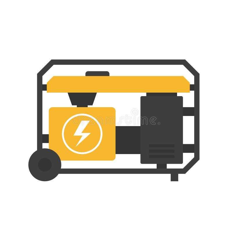 Groupe électrogène portatif illustration de vecteur
