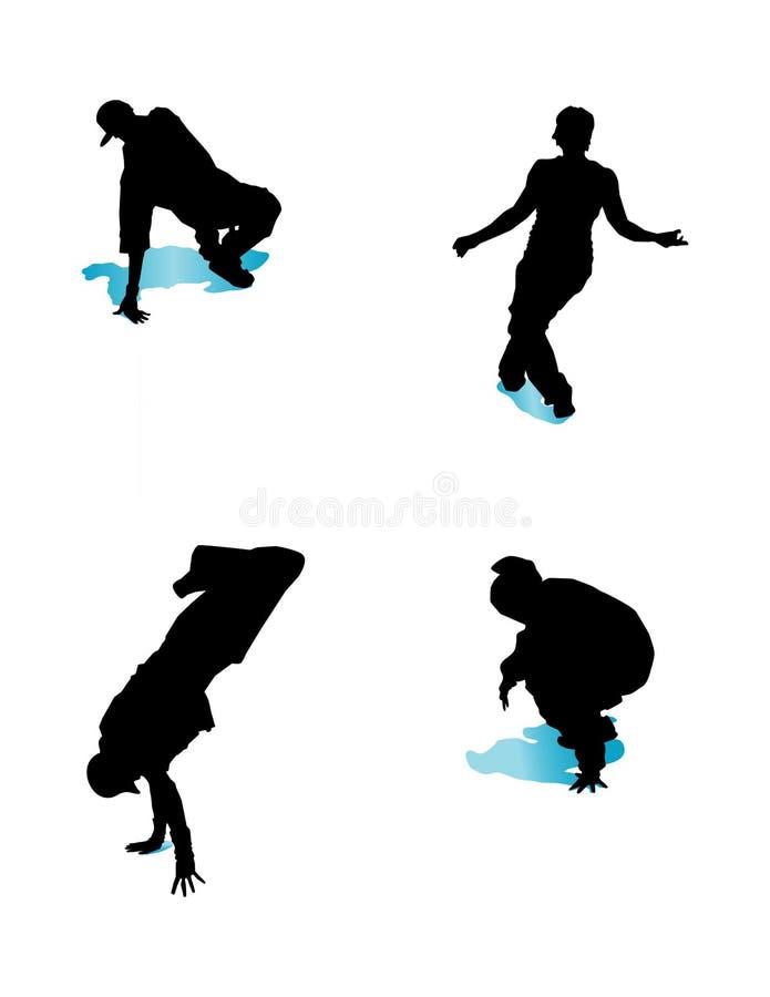 Groupe 1 de Breakdancing illustration de vecteur