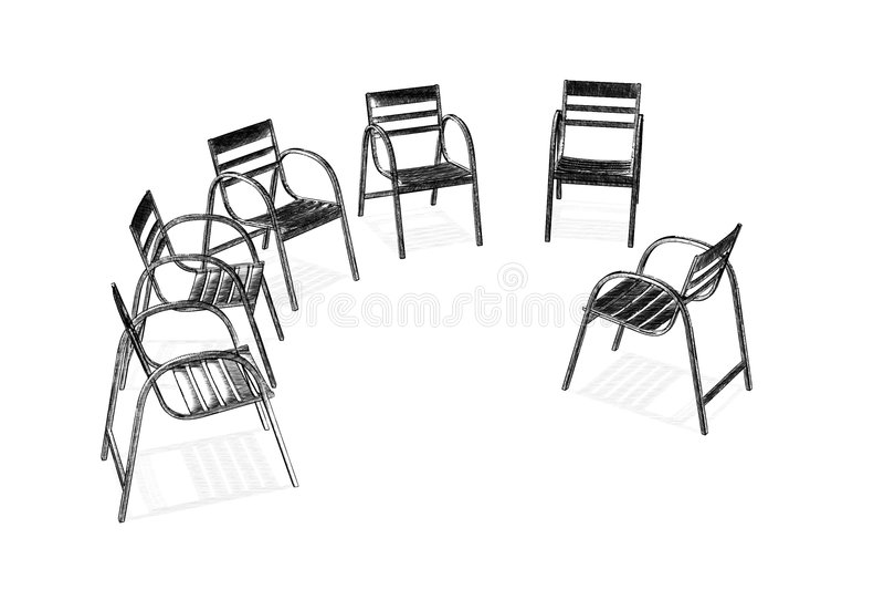Groupe illustration stock