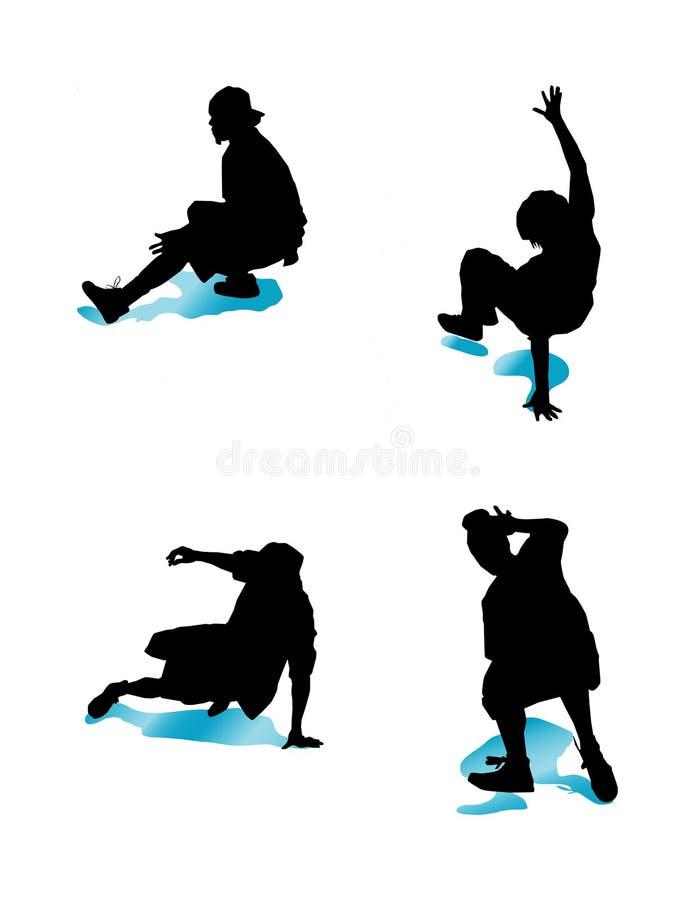 Groupe 2 de Breakdancing illustration stock