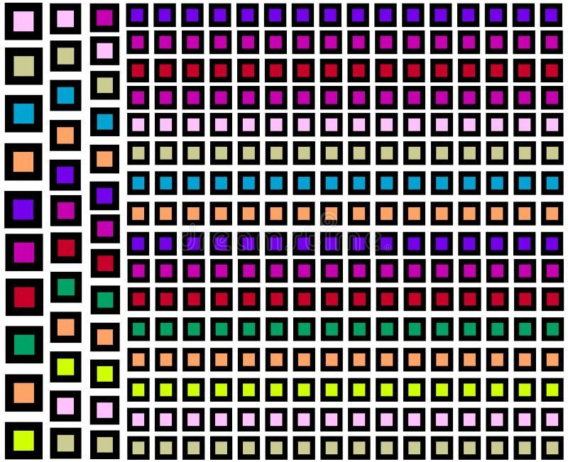 Groupe abstrait de places noires avec de plus petites formes à l'intérieur illustration libre de droits