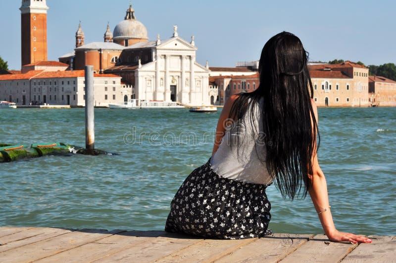 Groupe architectural à Venise images libres de droits