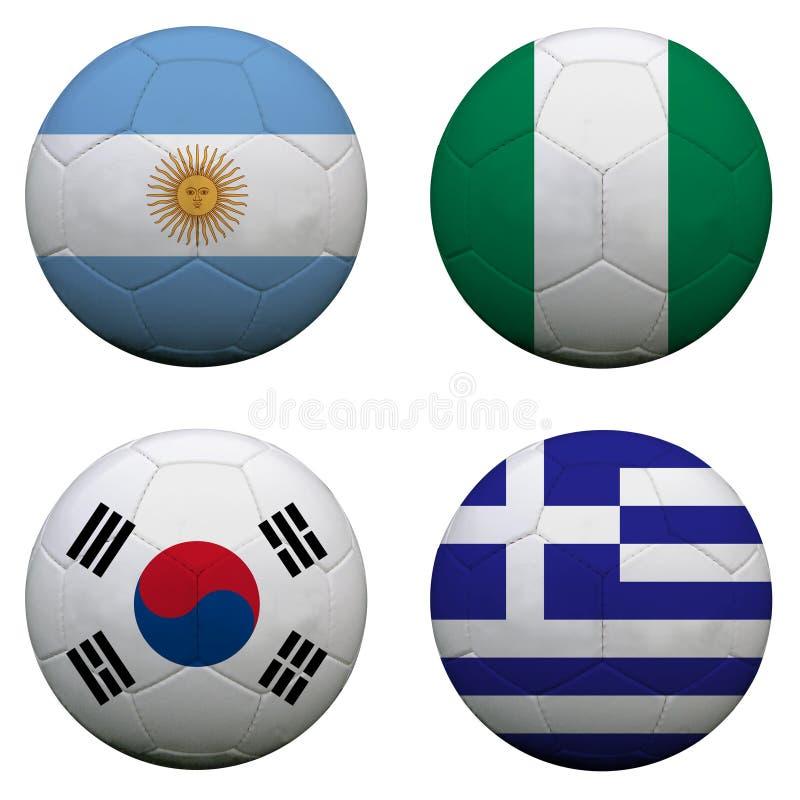 Groupe B de coupe du monde illustration stock