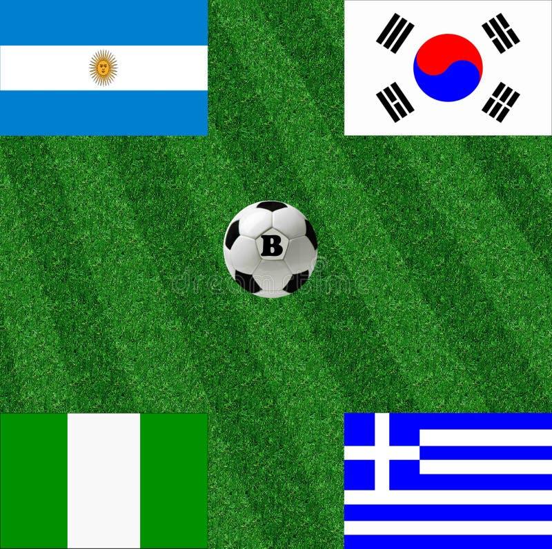 Groupe B de la coupe du monde illustration stock