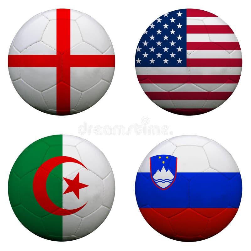 Groupe C de coupe du monde illustration de vecteur