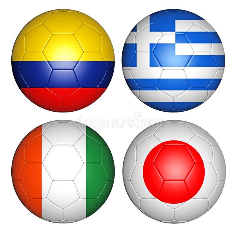 Groupe C de la coupe du monde 2014 illustration libre de droits