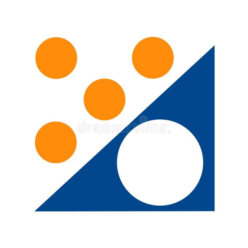 Groupe cible de logo illustration stock