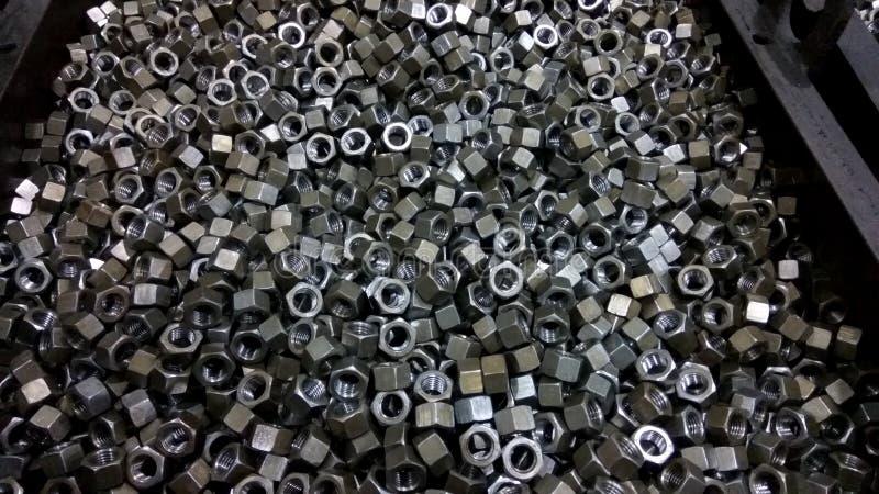 Groupe d'écrous en métal photographie stock