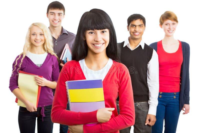 Groupe d'étudiants heureux photo libre de droits