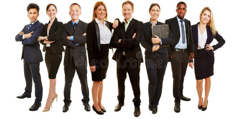 Groupe d'affaires en tant qu'équipe de consultation image libre de droits