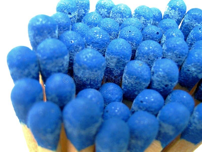 groupe d'allumettes bleues - d'isolement photo libre de droits