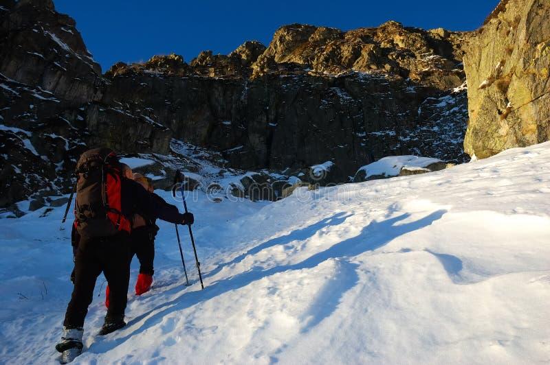Groupe d'alpinistes photo libre de droits