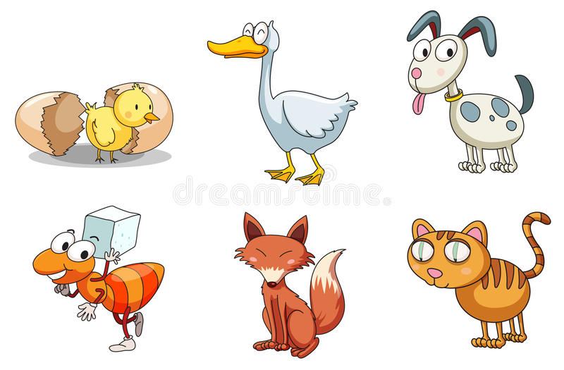 Groupe d'animaux illustration stock