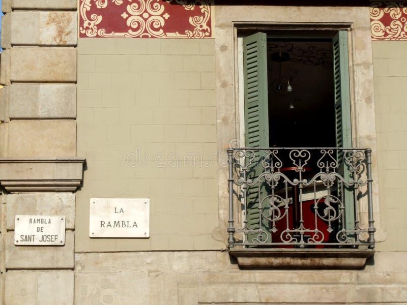 Groupe d'architecture de Rambla de La images stock