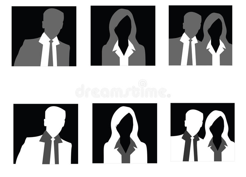 Groupe d'avatar image stock