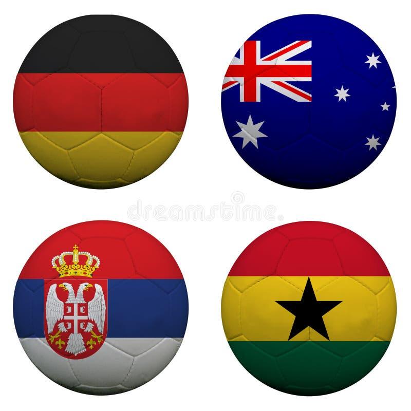 Groupe D de coupe du monde illustration stock