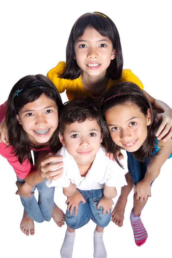 Groupe d'enfants en bas âge de fond différent photos stock