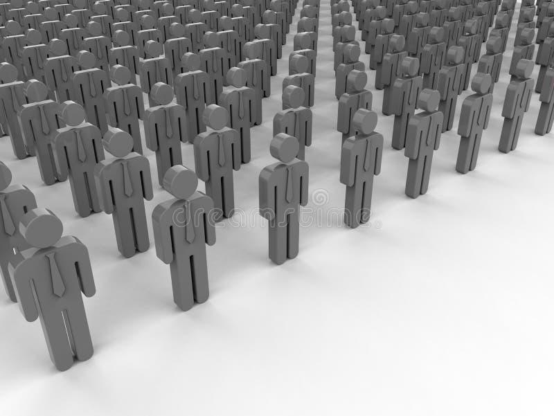 Groupe d'hommes d'affaires de coupe-circuit d'isolement sur le blanc illustration libre de droits