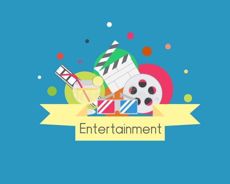 Groupe d'icône de divertissement images stock