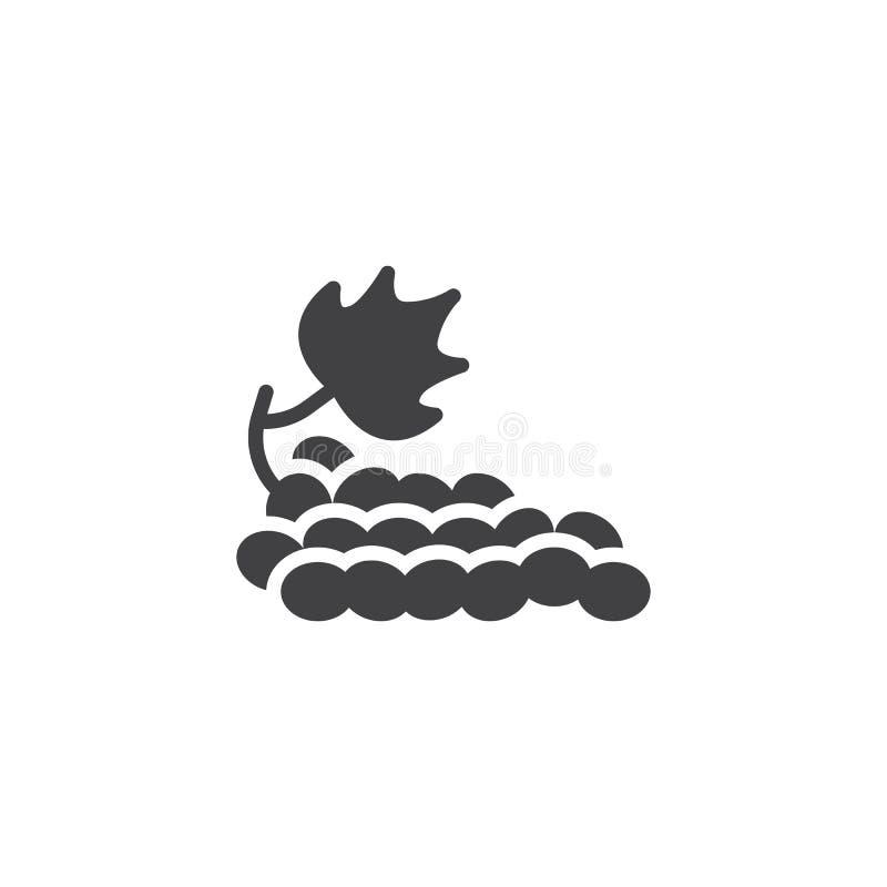 Groupe d'icône de vecteur de raisins illustration stock