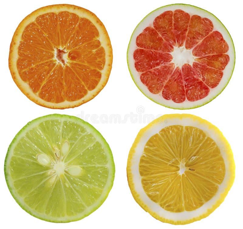 Groupe d'objet de fruits d'isolement sur le fond blanc image stock