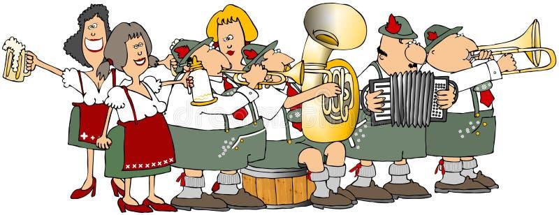 Groupe d'Oktoberfest illustration libre de droits
