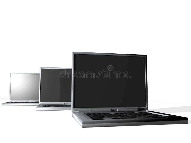 Groupe d'ordinateurs portatifs images stock