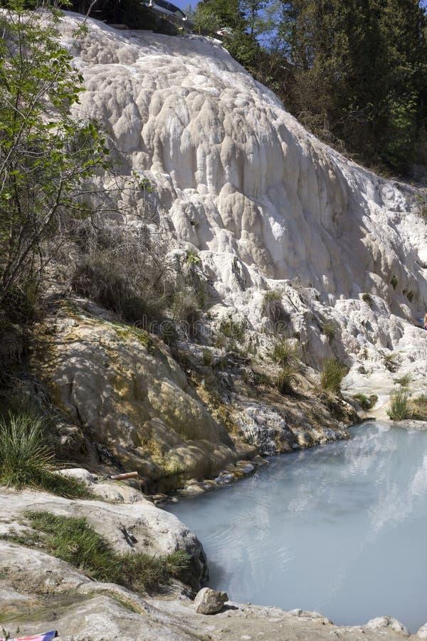 Groupe de Bagni San Filippo Hot Springs en Italie photos stock