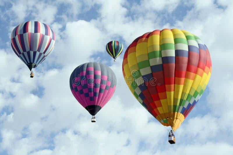 Groupe de ballons à air chauds image libre de droits