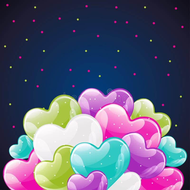 groupe de ballons brillants colorés d'hélium illustration libre de droits