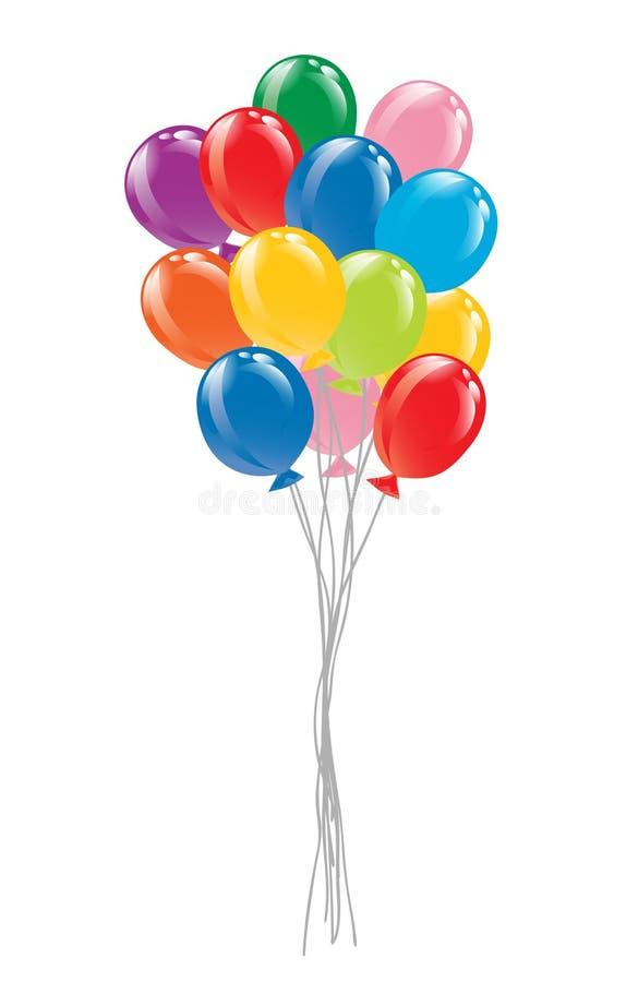 Groupe de ballons colorés illustration de vecteur