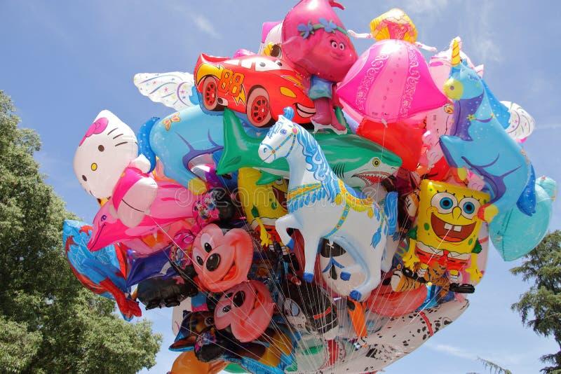 Groupe de baloons colorés photos libres de droits