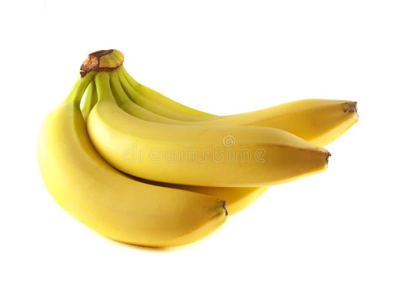 Groupe de bananes d'isolement sur le fond blanc photographie stock libre de droits