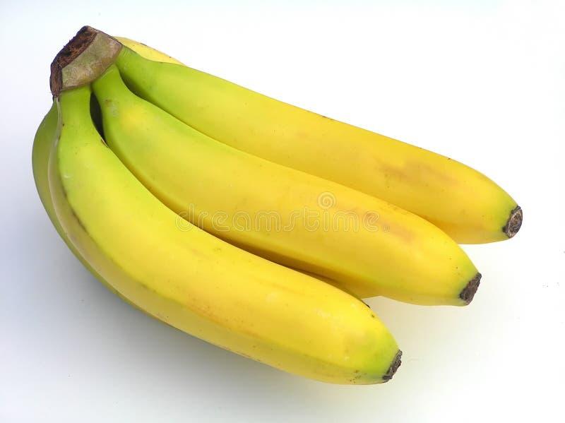 Groupe de bananes jaunes images stock
