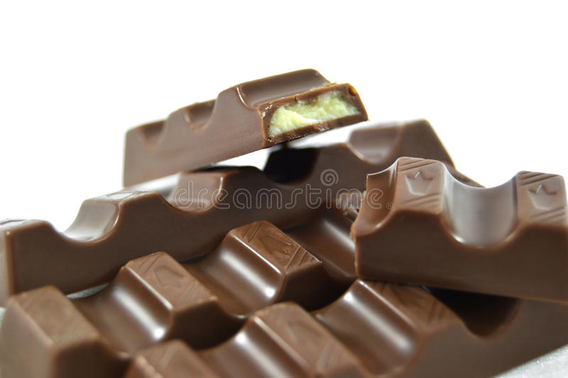 Barres de chocolat photos stock
