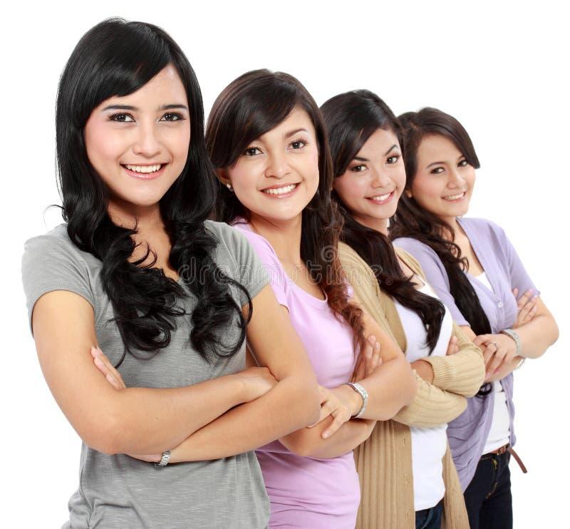 Groupe de beau sourire de femmes images stock