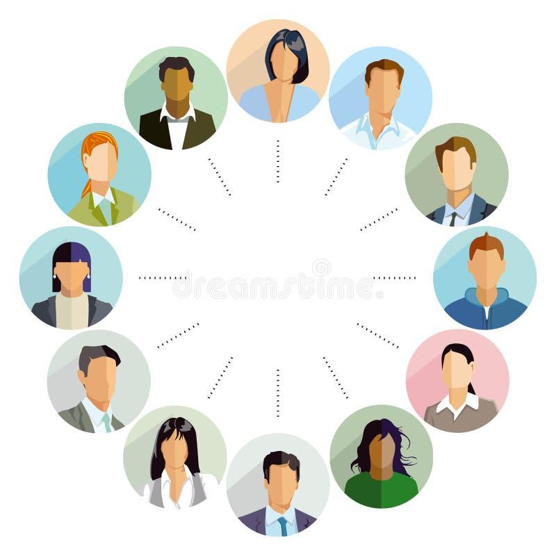 Groupe de candidats illustration stock